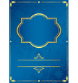 blue card with golden frame vector image