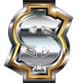 Fancy dollar symbol vector image