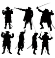 pirate silhouettes vector image vector image