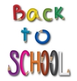 inscription back to school vector image