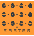 pixel easter pattern vector image vector image