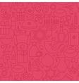 Thin Happy Hanukkah Line Holiday Seamless Pink vector image