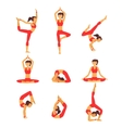 yoga Healthy lifestyle vector image