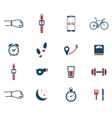 Jogging and workout simply icons vector image
