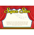 Certification template for super star vector image