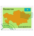 mail to-from Kazakhstan vector image