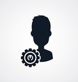 avatar portrait cog setting icon theme vector image