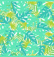 bright tropical leaves vector image