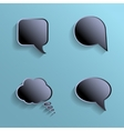 Chat bubbles - paper cut design Black color on vector image