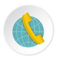 Global communication icon circle vector image