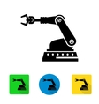 industrial robot arm icon vector image