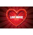 Love movie heart Retro banner vector image