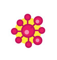 molecule icon isolated on white flat style vector image