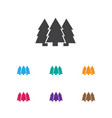of camping symbol on fir-tree vector image