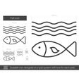 Fish line icon vector image