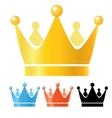 Crowns set vector image