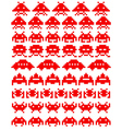 red space invaders vector image
