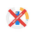 isolated sign of stop smoking cigarette vector image