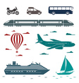 Transportation icons set of different means of vector image