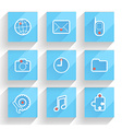 Set of flat design infographic elements vector image vector image