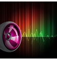 background with speakers vector image