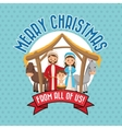 Holy family icon Merry Christmas design vector image