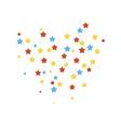 Stars confetti vector image