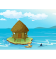 House on water vector image