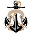 Anchor with Rope and Banner vector image