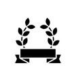 award wreath icon black sign vector image