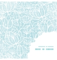 Blue lace flowers textile frame corner pattern vector image