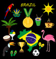 brazil summer travel information card cartoon vector image