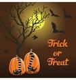 brown background Halloween style pumpkin vector image