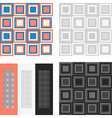 Fashion geometrical pattern with squares vector image