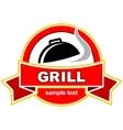 Grill label design vector image