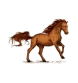 Horse running Equine horserace sport symbol vector image