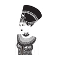 Nefertiti - Egyptian Queen vector image