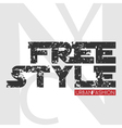 NYC free style design vector image