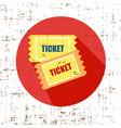 old vintage paper tickets grunge screen vector image