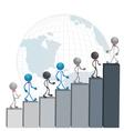 Successful business men vector image