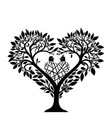 tree in the form of a heart vector image