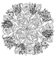 Black and white Flower roses vector image vector image
