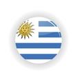Uruguay icon circle vector image