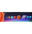 Planets in solar system vector image