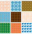 set of patterns - geometric textures vector image
