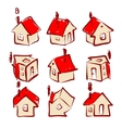 Set of house icons for your design vector image