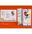 Brochure booklet z-fold layout Editable design vector image vector image