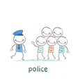 Police said the criminals vector image vector image