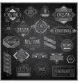 hip xmas emblems chalkboard vector image