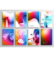 Set of Flyer Design Web Templates Brochure Designs vector image